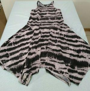 Tie Dye Asymmetrical Dress